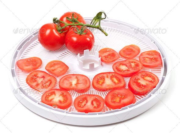 Fresh tomato prepared to dehydrated - Stock Photo - Images