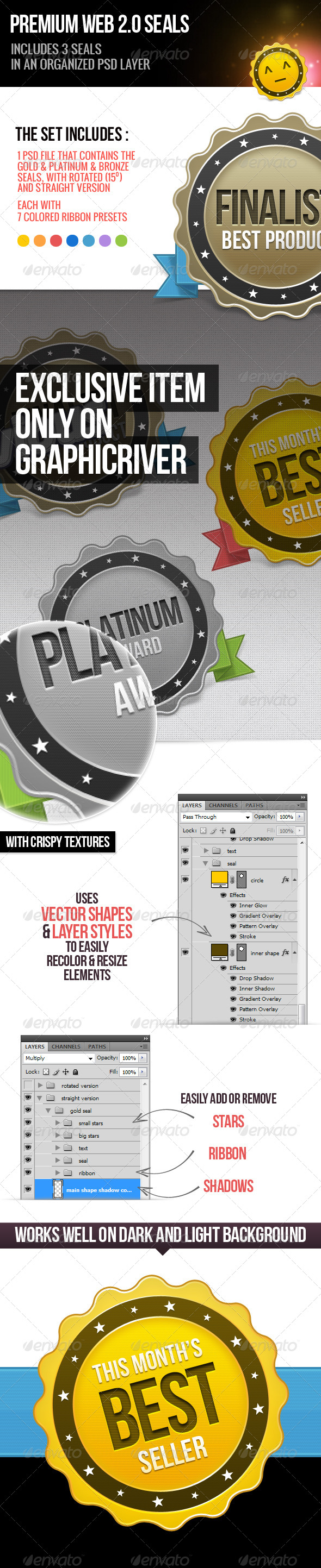 GraphicRiver Premium Web 2.0 Seals 3974657