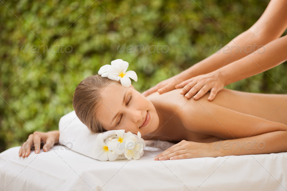Spa Beautiful Woman. Spa Salon - Stock Photo - Images
