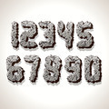 Numbers Made from Old Cracked Stone - PhotoDune Item for Sale
