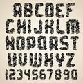Dirty Font. Grunge Letters and Numbers - PhotoDune Item for Sale