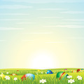 Easter Background. Eggs in Green Grass. - PhotoDune Item for Sale