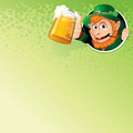 Cartoon Leprechaun with Mug of Ale. Image - PhotoDune Item for Sale