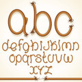 Rope Font. Set of Alphabet Letters from String - PhotoDune Item for Sale