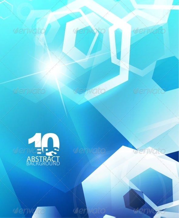 GraphicRiver Hexagon Hi-Tech Abstract Background 4093360