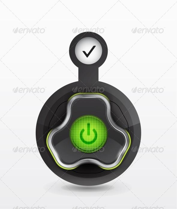 GraphicRiver Vector Power Button Icon 4093467
