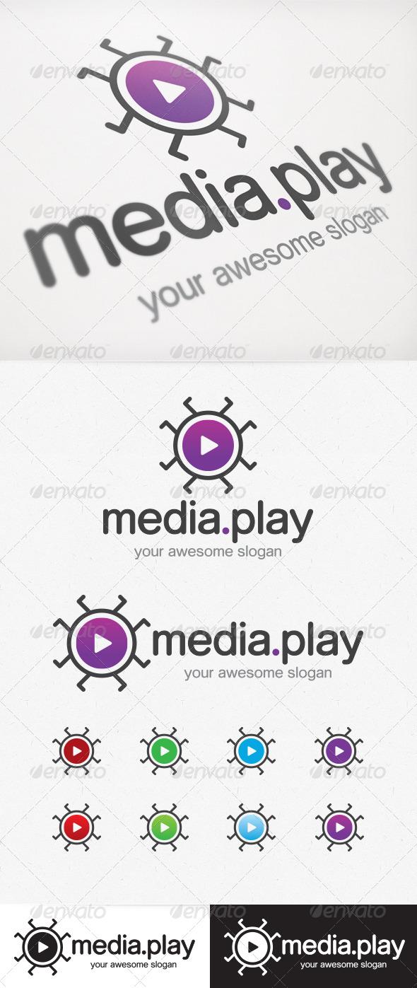 Media Play Logo - Symbols Logo Templates
