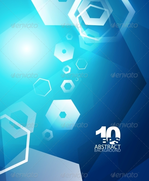 GraphicRiver Hexagon Hi-Tech Abstract Background 4093916