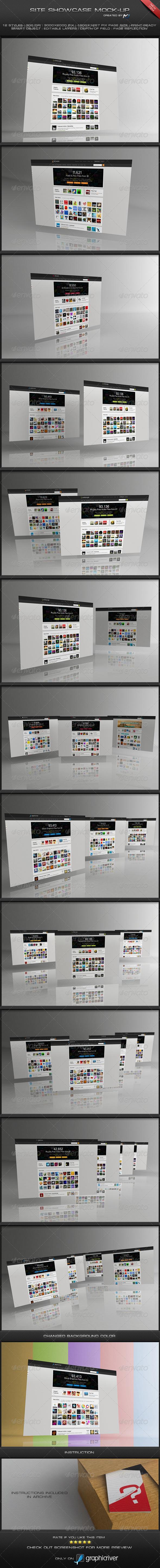 GraphicRiver Site ShowCase Mock-Up 4093999