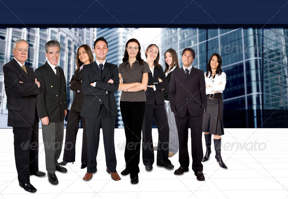 business team in a corporate environment - Stock Photo - Images