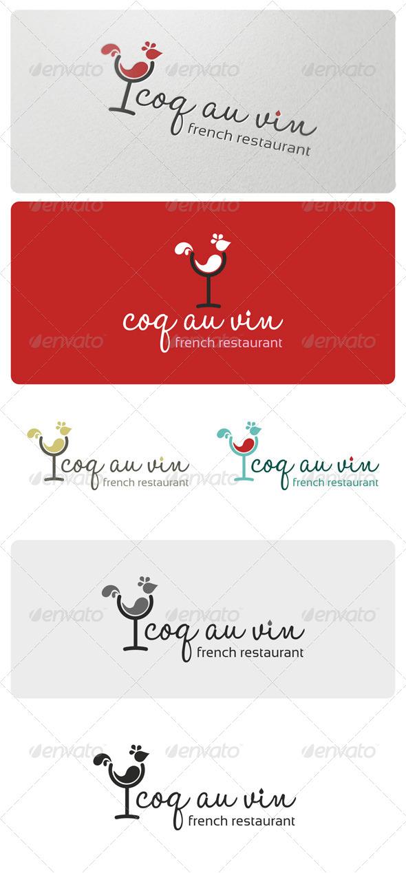 GraphicRiver Coq Au Vin Logo Template 4095063