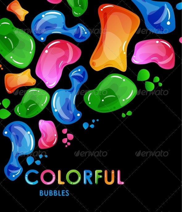 Vector Abstract Colorful Bubbles