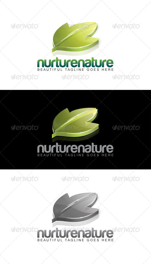 GraphicRiver Nurture Nature Logo 3947988