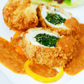 Turkey Breast Stuffed with Spinach and Curry Sauce - PhotoDune Item for Sale