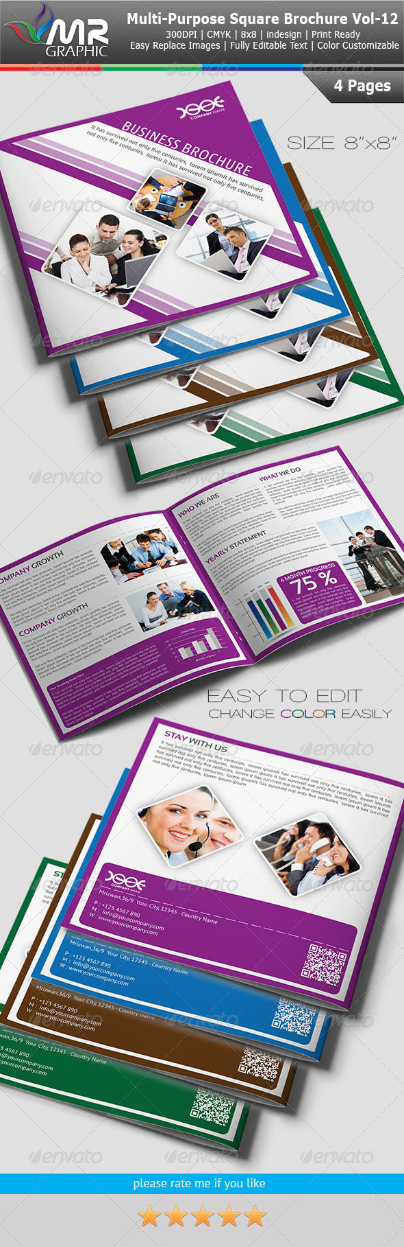 Multipurpose Square Business Brochure Vol-12