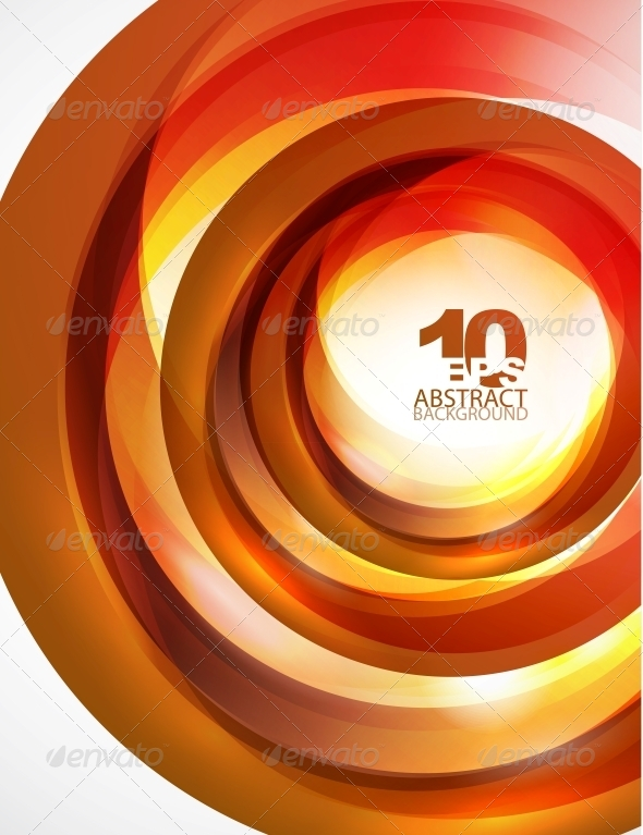 GraphicRiver Orange Swirl Wave 4096049