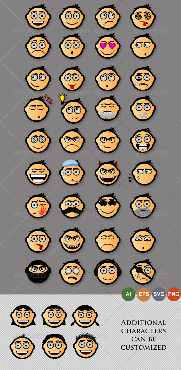 GraphicRiver Emoticons Version 2 4096060