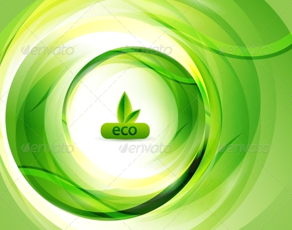 GraphicRiver Green Eco Abstract Background 4096090
