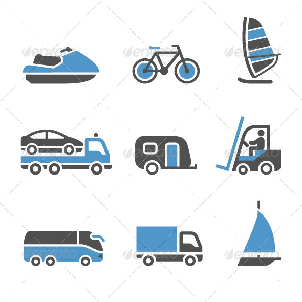 GraphicRiver Transport Icons a Set of Third 4096159