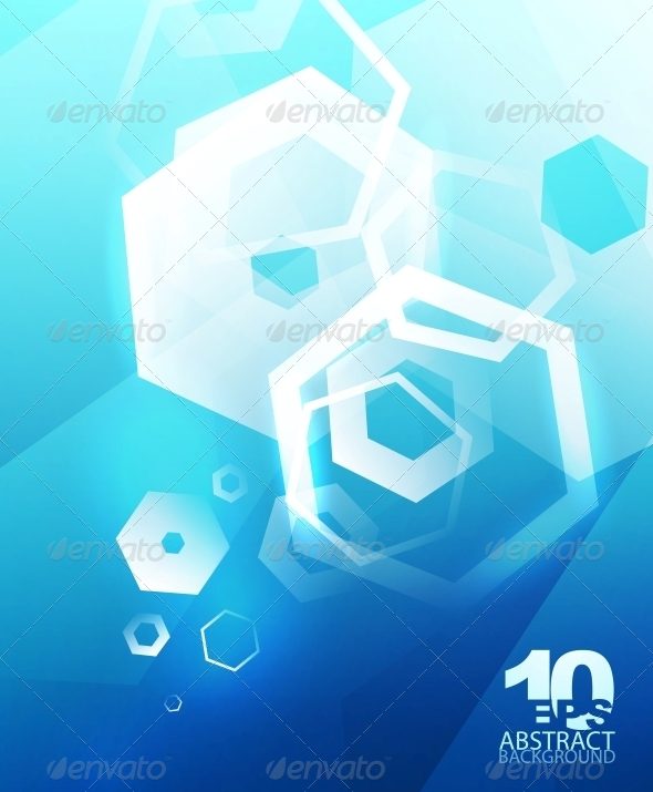 GraphicRiver Hexagon Hi-Tech Abstract Background 4096177
