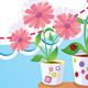 Summer Frame with Flowers in Pots - GraphicRiver Item for Sale