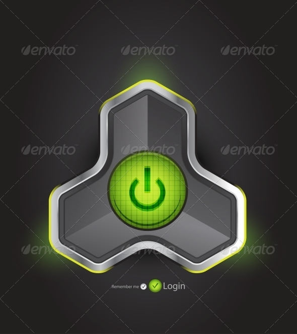 GraphicRiver Vector Futuristic Power Button 4096306