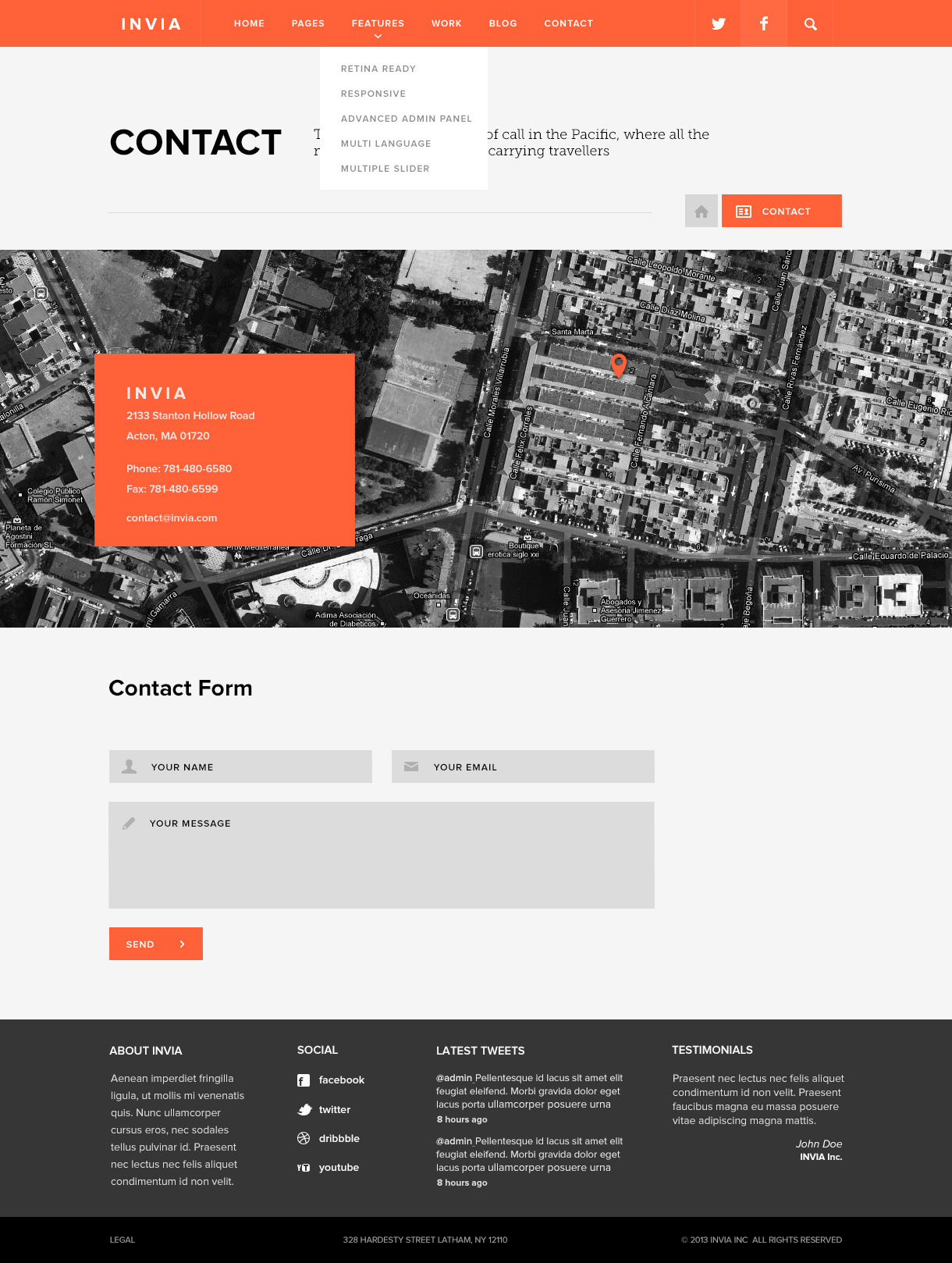 INVIA Corporate PSD Template