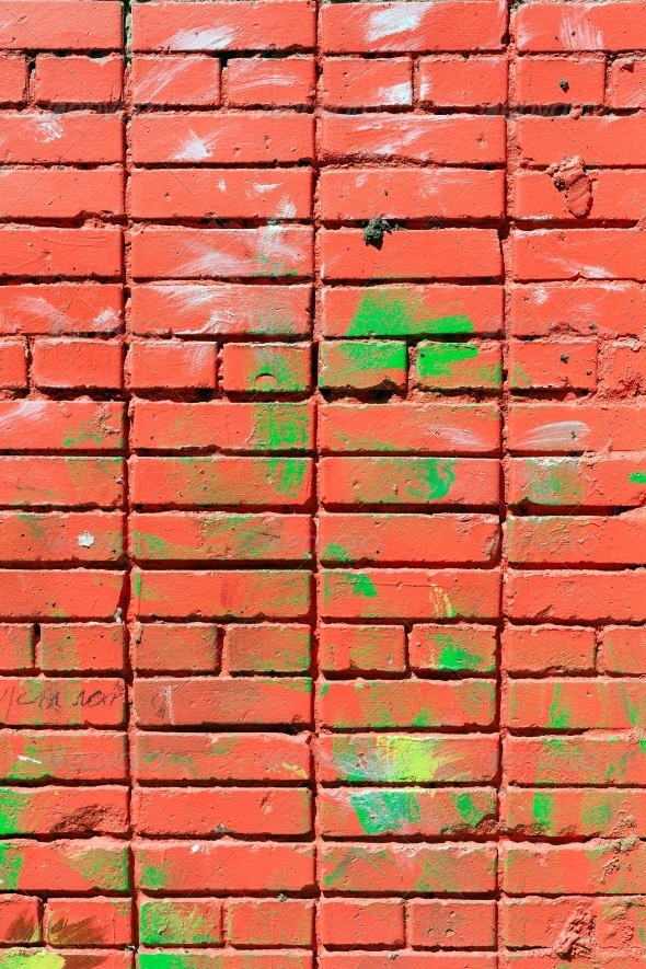 GraphicRiver pink painted brick wall 4096862