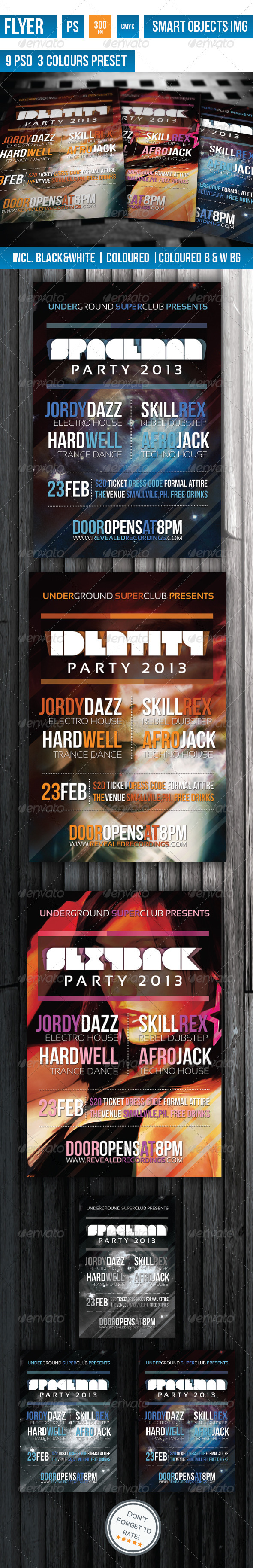 Identity Party Flyer - Clubs & Parties Events