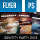 Identity Party Flyer - GraphicRiver Item for Sale