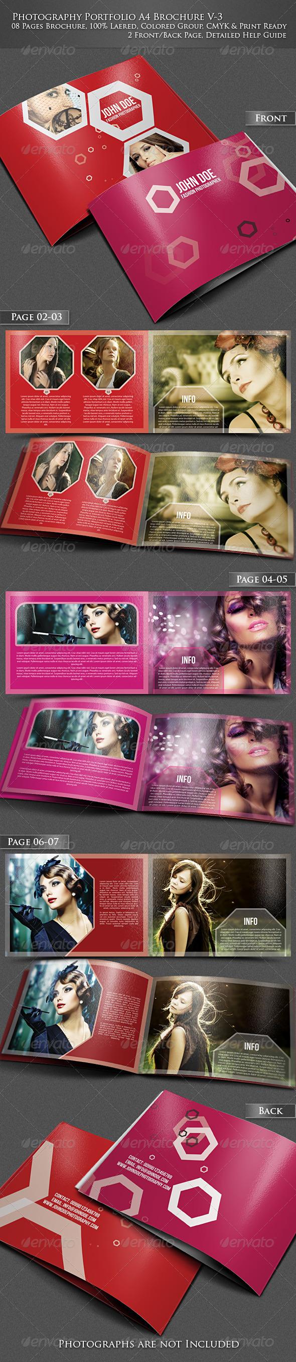 GraphicRiver Photography Portfolio A4 Brochure V3 4097202