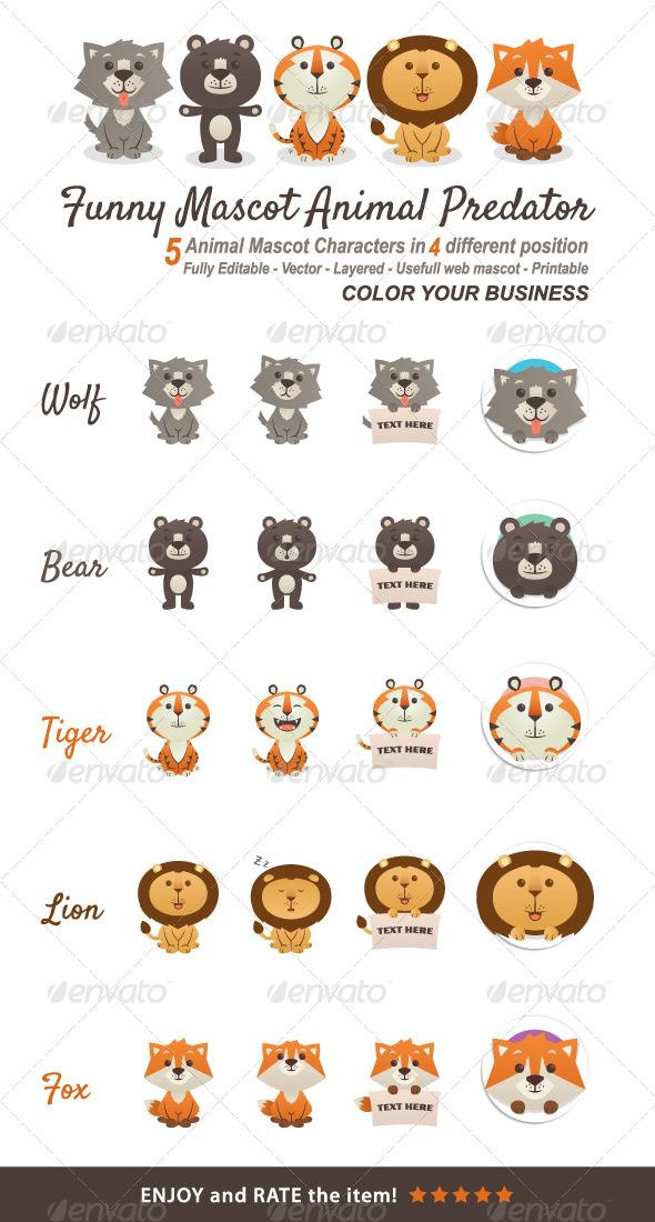 GraphicRiver Funny Mascot Animal Predator 4033419