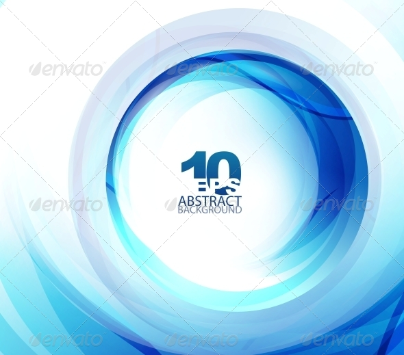 GraphicRiver Blue Swirl Abstract Background 4097217