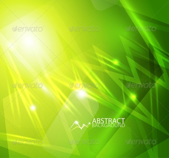 GraphicRiver Green Lightning Vector Background 4097670