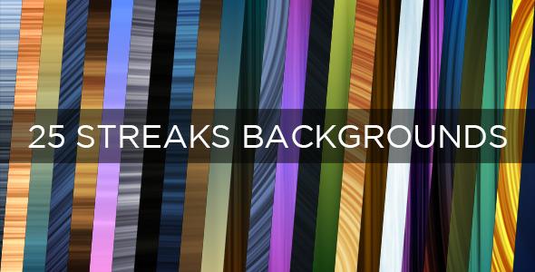 25 Streaks Backgrounds