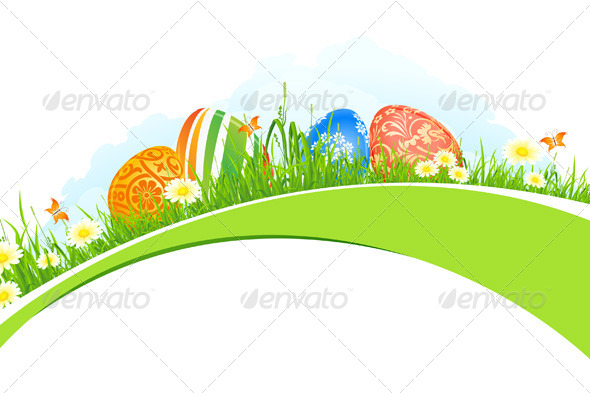 GraphicRiver Beautiful Easter Holiday Background 4098588