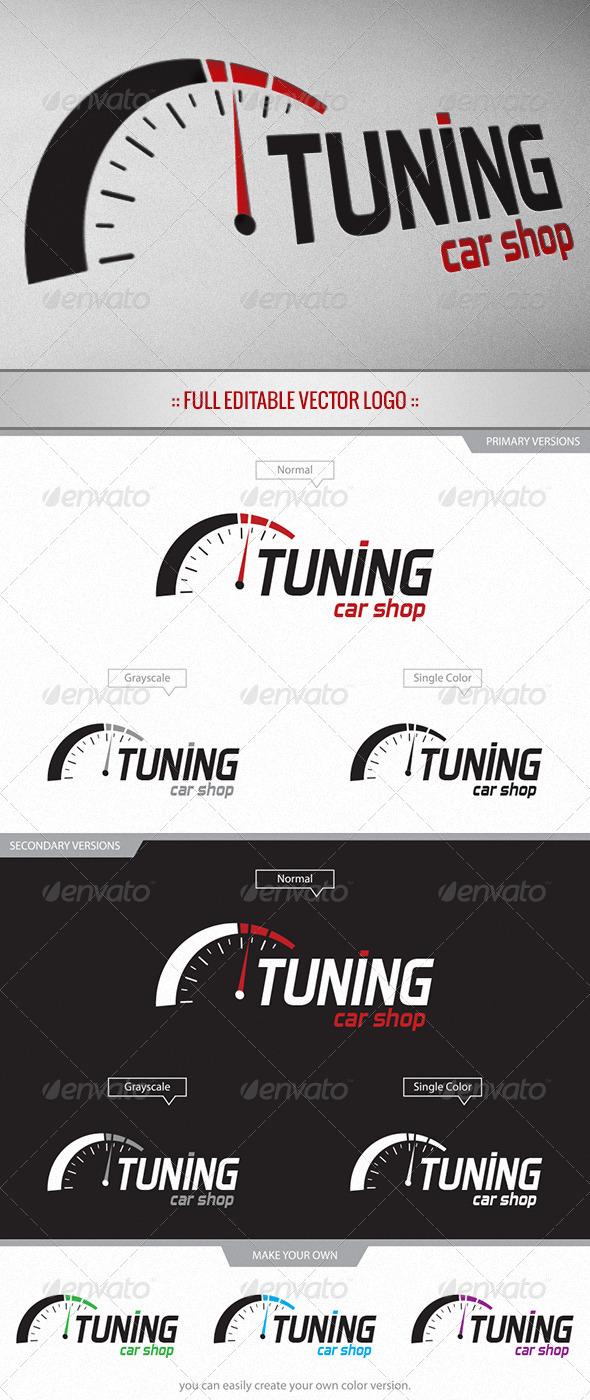GraphicRiver Tuning Car Shop Logo 3956657