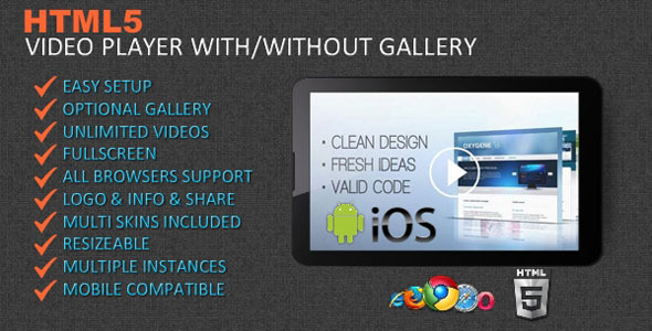 HTML5 Video Player & Gallery - CodeCanyon Item for Sale