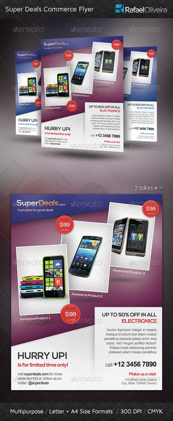 Super Deals Commerce Flyer - Commerce Flyers