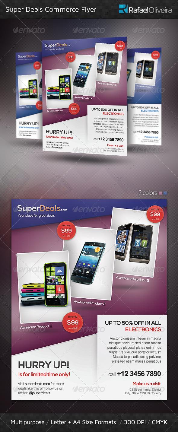 GraphicRiver Super Deals Commerce Flyer 3983831