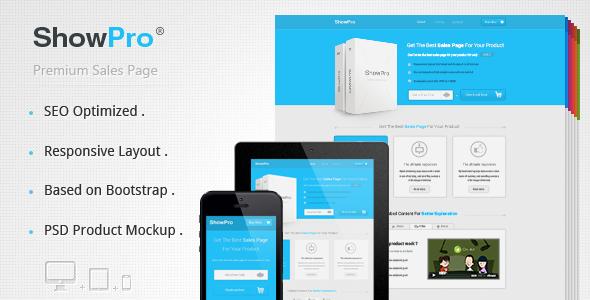 Showpro - Responsive Sales Page