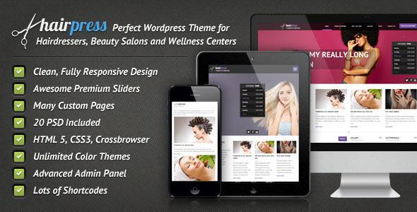 Hairpress v3.0.2   ThemeForest WordPress Theme for Hair Salons