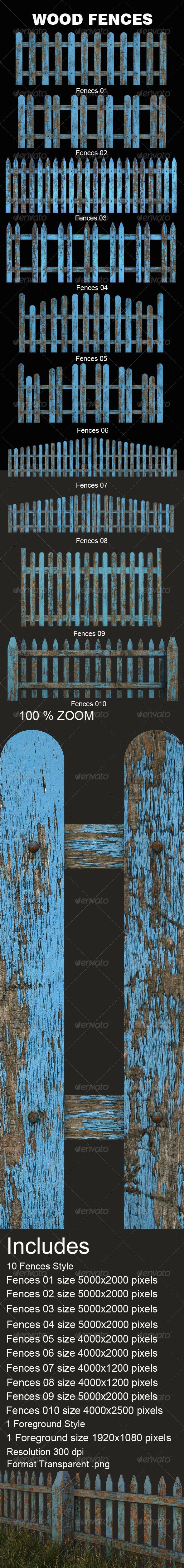 GraphicRiver Old Wood Fences 4099539