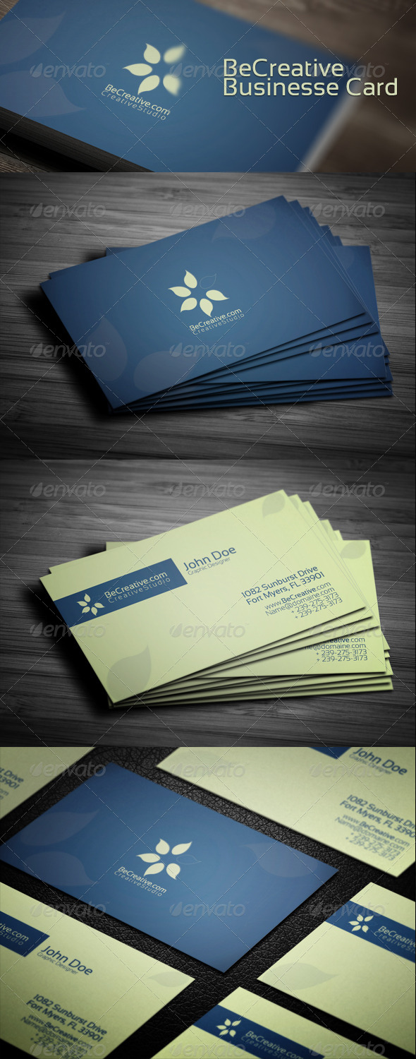 GraphicRiver Be Creative Business Card 4099664