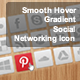 CSS3 Smooth Hover Gradient Social Networking Icons - CodeCanyon Item for Sale