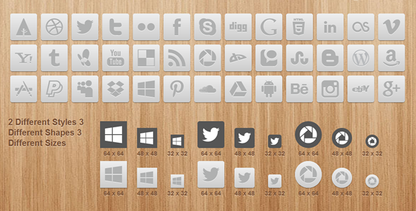 CodeCanyon CSS3 Smooth Hover Gradient Social Networking Icons 4092743