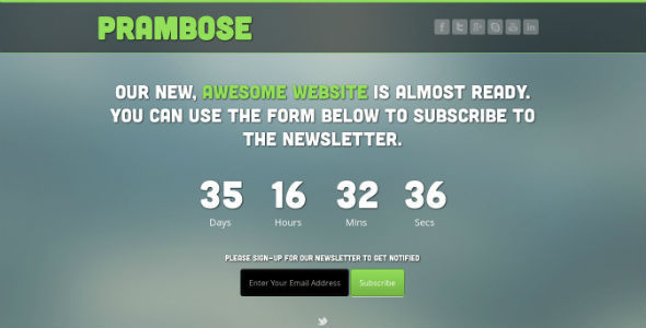 Prambose - Under Construction HTML Template - Under Construction Specialty Pages