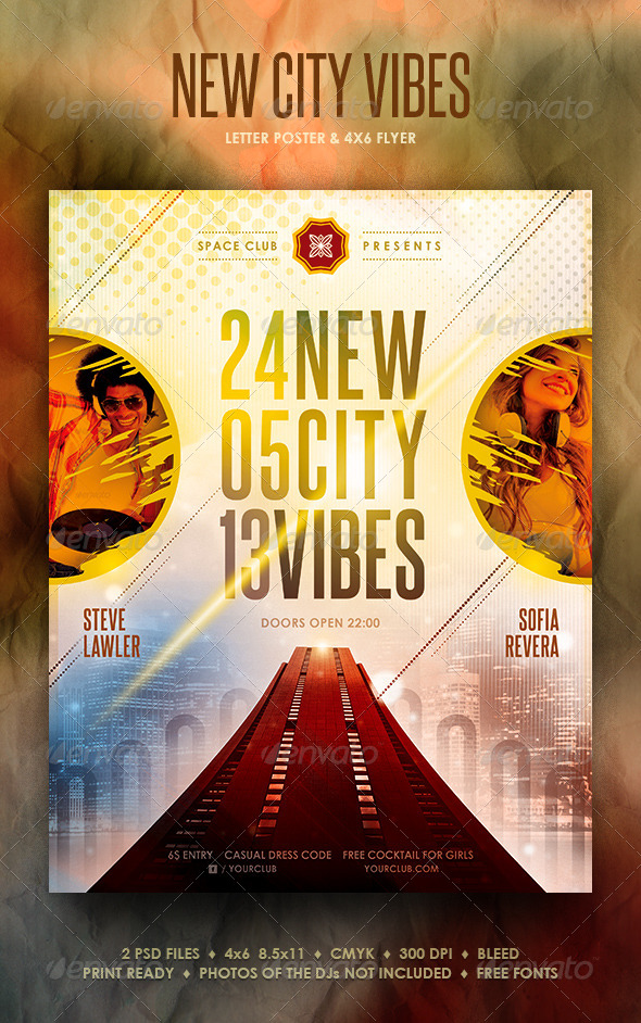 GraphicRiver New City Vibes Poster Flyer 4100814