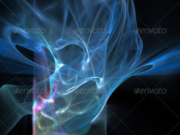 PhotoDune Digital Fractal on Black 4101582