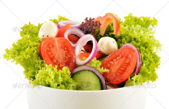 PhotoDune Vegetable salad bowl isolated on white 4101974